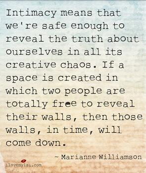 Intimacy quote by Marianne Williamson