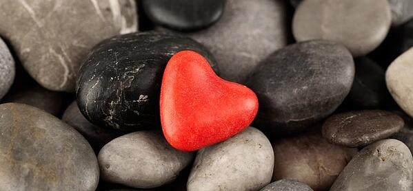 red rock heart