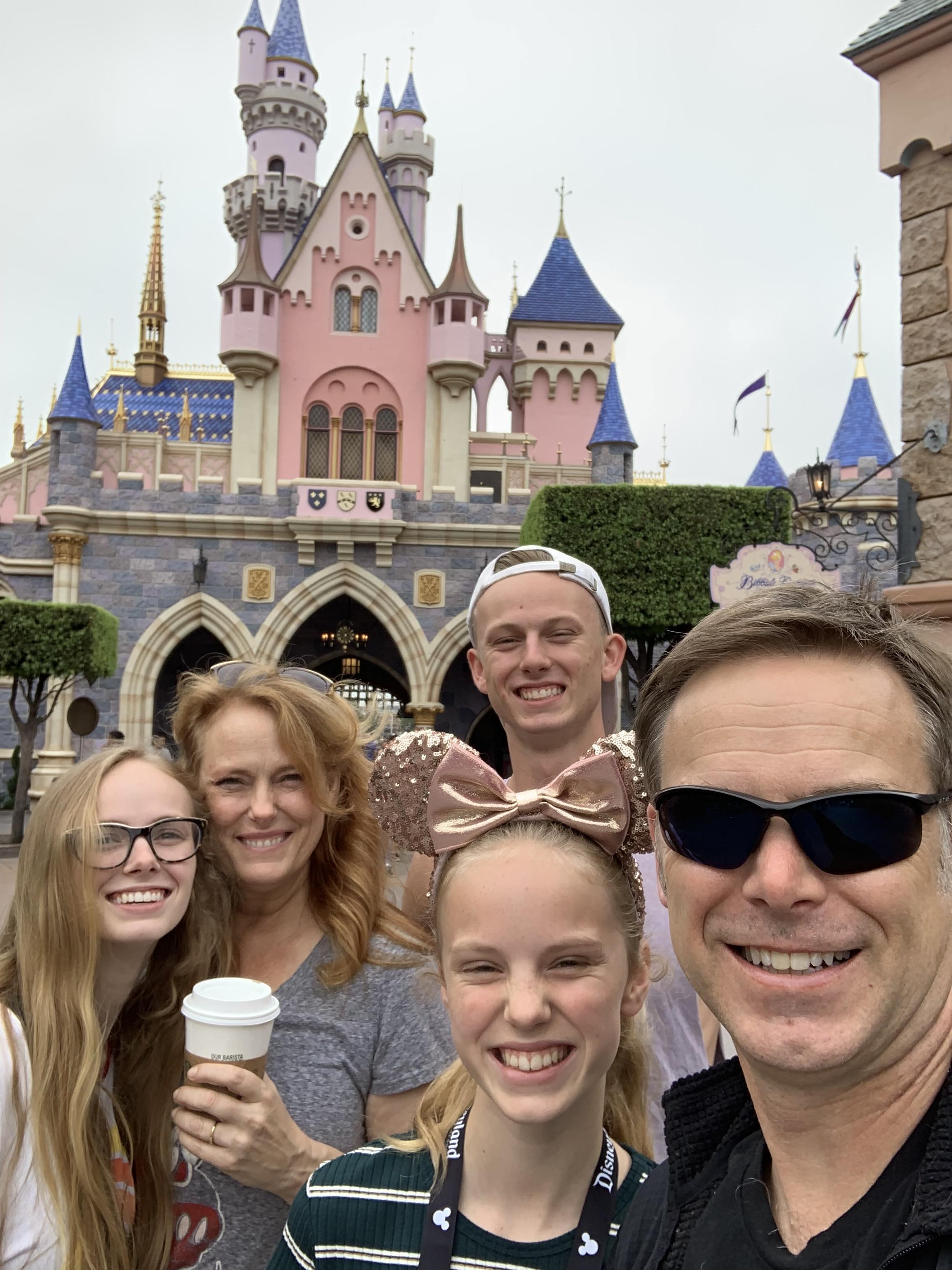 Family time at Disneyland.