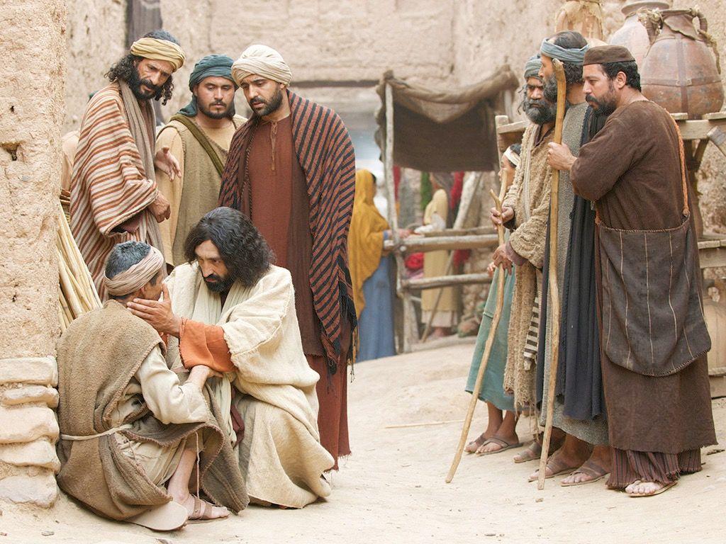 Jesus heals the man born blind
