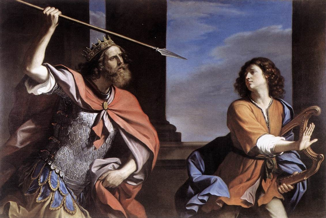 Painting of Saul trying to kill David